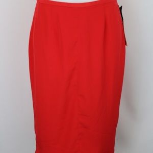 BB Dakota Red Pencil Skirt Size 4